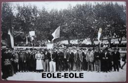 34 - Carte Photo - BEZIERS - Greve - Manifestation Viticole Et Soutien Des Ouvriers De L´usine PONS - Esplanade - Beziers