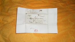 LETTRE ANCIENNE DE 1840. / CHALONS SUR SAONE A MEURSAULT / GENEALOGIE. / CACHETS DONT ID NOIR + TAXE - Marcophilie (Lettres)