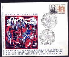 Nancy 20-05-61 Congrès National Philatélique Cachet Illustré Cavalier Cheval - Franz. Revolution