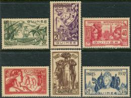 Guinee RF 1937. Michel #121/26 MNH/Luxe. World Exhibition, Paris 1937. (Ts48) - 1937 Exposition Internationale De Paris