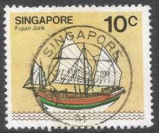 Singapore. 1980 Ships. 10c Used. SG 366 - Singapur (1959-...)