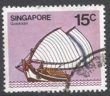 Singapore. 1980 Ships. 15c Used. SG 367 - Singapore (1959-...)