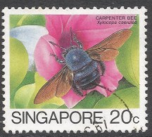 Singapore. 1985 Insects. 20c Used. SG 494 - Singapore (1959-...)
