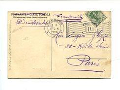 Pf Germania - HAMBURG - Flamme Drapeau 1906 - Marcophilie (Lettres)