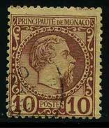 MONACO - Prince Charles III - YT 4 - TIMBRE OBLITERE - Monaco