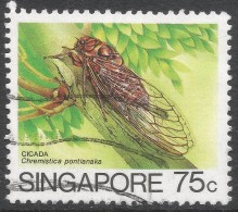Singapore. 1985 Insects. 75c Used. SG 498 - Singapore (1959-...)