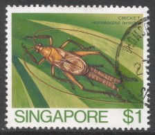 Singapore. 1985 Insects. $1 Used. SG 499 - Singapore (1959-...)