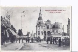 1 Cpa Exposition Gand 1913. Avenue Du Belvédère..Animation Timbre 1913 - Gent
