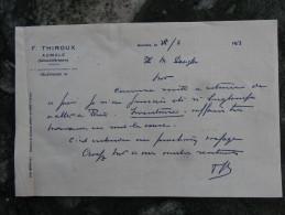 Aumale Seine Inferieure F Thiroux 1953 - Textile & Vestimentaire