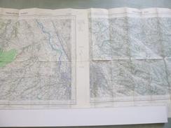 2 Cartes I.G.N. : TOULOUSE Ouest Et Est - 1 / 50 000ème - 1948 / 49 - 1951 / 52. - Topographical Maps