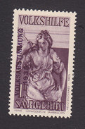 Saar, Scott #B56, Mint Hinged, Peace Overprinted, Issued 1934 - Neufs