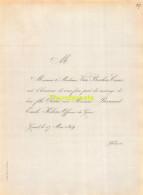 VAN BEERLERE CASIER KEBENS OFFICIER DU GENIE GAND 1859 - Huwelijksaankondigingen