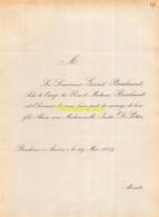 LIEUTENANT GENERAL BRIALMONT DE POTTER BERCHEM 1859 - Wedding