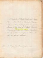 COMTE DE ST PHALLE ESPAGNE LIEUTENANT DE VAISSEAU DE MAN D ATTENRODE CHAT DE HUEZ NIEVRE 1857 - Mariage