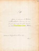 DE WOUTERS DE BOUCHOUT VAN DER MAELEN CHATEAU DE KORTIJK 1857 - Wedding
