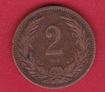 Hongrie - 2 Filler 1899 - TB - Hungary