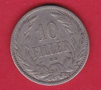 Hongrie - 10 Filler 1895 - TB - Hungría