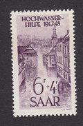 Saar, Scott #B62, Mint No Gum, Flood Scene, Issued 1948 - 1947-56 Protectorate