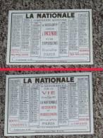 Calendrier, Almanach, 1930, Compagnie D´assurance LA NATIONALE - Kalenders