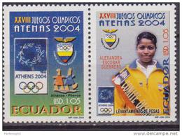 Ecuador 2004 OLIMPIC GAME ATENE  MNH 2 V. - Ete 2004: Athènes
