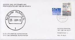 Eerste Dag Afstempeling Nieuw Namen - 23-01-1984 - Period 1980-... (Beatrix)