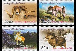 Kirgizië / Kyrgyzistan - Postfris / MNH - Complete Set Berggeiten 2013 - Kirgizië