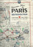 Plan TARIDE : METRO De PARIS - 1 / 100 000ème - 1976. - Cartes Topographiques