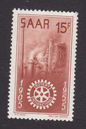 Saar, Scott #254, Mint Hinged, Symbols Of Industry And Rotary Emblem, Issued 1955 - 1947-56 Protectorate