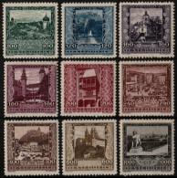 ~~~ Autriche 1923 - Vues - Mi. 433/441 * MH Et ** MNH  ~~~ - Ungebraucht
