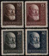 ~~~  Austria Oostenrijk 1928 - 10 Years Republic - Mi. 494/497 * MH - CV 55.00 € ~~~ - Ungebraucht