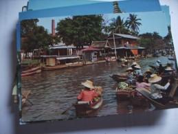 Asia Thailand Floating Market Near Bangkok - Thailand