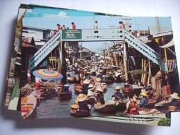 Asia Thailand Floating Market And Wooden Bridge - Thailand