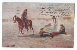 Illustrateur - John Innes - Branding Cattle - Cowboys - Altre Illustrazioni