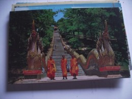 Asia Thailand North Chiengmai Dragon Staircase - Thailand