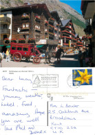 Dorfstrasse, Zermatt, VS Valais, Switzerland Postcard Posted 2012 Stamp - VS Valais