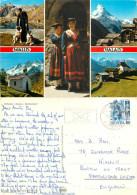 Multiview, VS Valais, Switzerland Postcard Posted 1988 Stamp - VS Valais