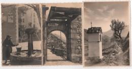 Carte Photo 04 ENTREVAUX Lot De 3 Par Baruzzi Ostal Fontaine Oratoire Pont Levis - Zonder Classificatie