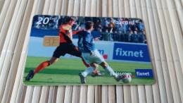 Football 20 CHF  Phonecard Zwitseland Used 2 Scans Rare - Switzerland