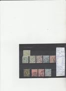 TIMBRE DE MONACO  NR 6-12-13-19-20-23X2-25 + 22 GRATUIT PETIT TROU AU MILIEU  COTE 146,10€ - Monaco