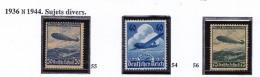 ALLEMAGNE  1936 ZEPPELIN AVION PA 54 A 56  MNH - Poste Aérienne