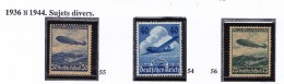 ALLEMAGNE  1936 ZEPPELIN AVION PA 54 A 56  MNH - Airmail
