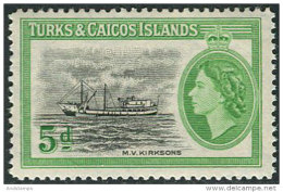 Turks & Caicos Isl. 1955. Michel #161 MNH/Luxe. Ship. QEII (Ts25) - Turks And Caicos