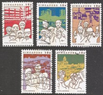 """Singapore. 1984 """"Total Defence"""". Used Complete Set. SG 482-486 - Singapore (1959-...)"""