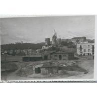 BLARSTP3061Ñ-LFTD12702.Tarjeta Postal De BALEARES.RUNAS,casas,.MOLINOS Y CASTILLO,ISLA DE MALLORCA.¿POBLACION?  ?¿ - Mallorca