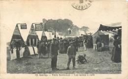 50 Gavray, Foire St Luc, Les Tentes à Café, Cliché Pas Courant - Other Municipalities