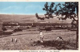 1 Cpsm Saint Leger Sur Dheune - France