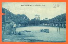 """CPA 60  Gouvieux """" Place De La Mairie """" Chaudière Bois - Voir Etat - 2 Scans - LJCP4 - Gouvieux"""