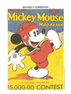 Buvard Mickey Mouse Magazine Walt Dysney Productions - Cinéma & Theatre