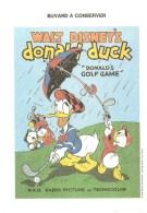 Buvard DONALD DUCK Donald's Golf Game Walt Dysney Productions - Cinéma & Théatre