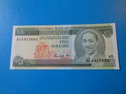 Barbades Barbados 5 Dollars 1986 P.37 UNC - Barbades